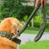 狗錬子 遛狗 中大型犬項圈牽引帶狗繩 哈士奇金毛薩摩狼狗頸圈  萌萌小寵