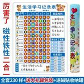 兒童成長自律表幼兒園寶寶學習課程表生活表現獎勵計劃記錄表墻貼