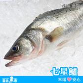【台北魚市】 七星鱸 530g±10%