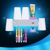 牙刷消毒器 紫外線牙刷消毒器吸壁式牙刷架烘干牙刷置物架擠牙膏器免打孔JD 全館免運