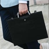 (交換禮物)韓版男包英倫復古包男士女士手袋Ipad公文包手提單肩文件包商務包