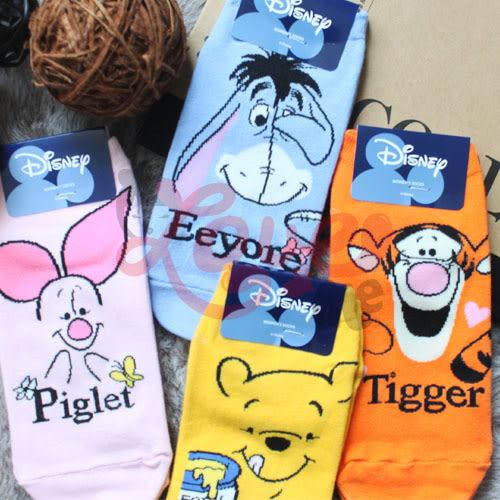 韓國 熱銷 迪士尼襪子 授權 正版 小熊維尼 跳跳虎 小豬 伊唷 短襪 可愛穿搭必備