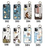 iPhone 11 Pro Max 手機殼 保護殼 腕帶支架防摔 全包邊外殼 手機套 保護套 浮雕軟殼 可愛卡通 i11
