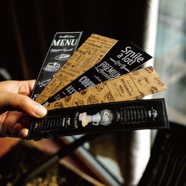 書籤│小卡│復古咖啡館元素書籤@牛皮紙西卡紙手繪菜單創意黑板畫咖啡豆磨豆機
