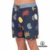 VOLCOM STONEYS 海灘褲-藍x多色印花