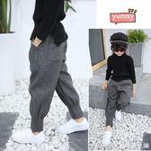 女童秋冬裝褲子加絨哈倫褲新款韓版洋氣兒童冬季休閒寬鬆長褲 艾美時尚衣櫥