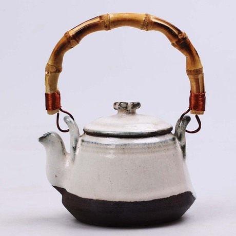 全手工粗陶 窯變陶瓷茶壺