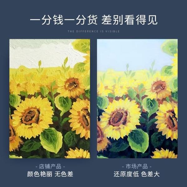 數字油畫自油自畫數字油畫diy客廳臥室大幅風景花卉手繪裝飾畫落英繽紛【全館免運】
