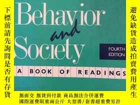 二手書博民逛書店Adolescent罕見Behavior and Society