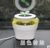 車載空氣凈化器汽車內用 除甲醛異味PM2.5殺菌防霧霾 車用氧吧 qf2805【黑色妹妹】