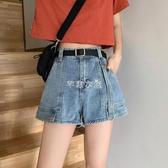 高腰顯瘦遮胯褲子潮ins夏季年新款網紅寬鬆超短褲牛仔褲女夏 芊惠衣屋