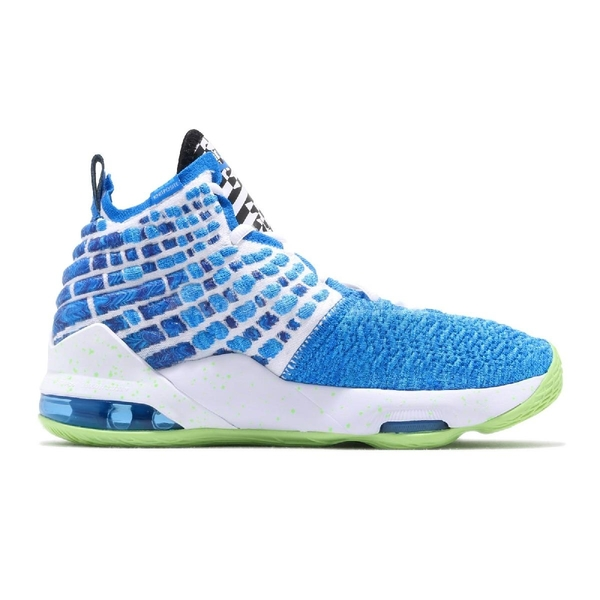 Nike 籃球鞋 LeBron XVII GS Sprite 藍 綠 女鞋 大童鞋 雪碧配色 運動鞋 【ACS】 BQ5594-434