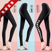 健身瑜伽褲女速幹夏季薄款高彈提臀運動緊身褲跑步籃球服打底褲子 快速出貨
