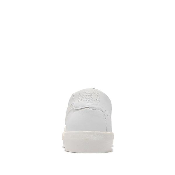 Nike 休閒鞋 Blazer Slip 全白 皮革 無鞋帶 小白鞋 女鞋 百搭款 【ACS】 CJ1651-100