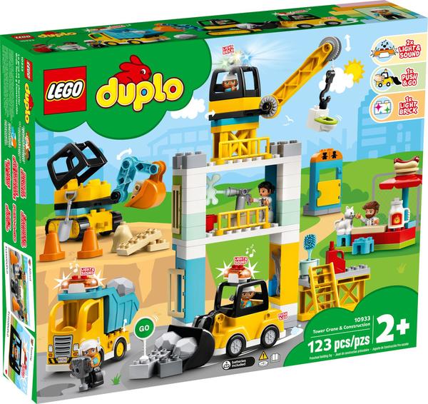 【愛吾兒】LEGO 樂高 duplo得寶系列 10933 起重機&建設工程