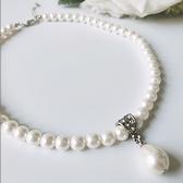 [L022-S]水滴型珍珠短項鍊~美之札