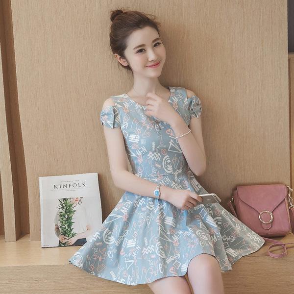洋裝 韓版 甜美小清新顯高連衣裙 小禮服