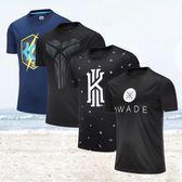 運動T恤男短袖圓領科比夏跑步上衣韋德籃球健身服寬松速干衣 AD919『伊人雅舍』