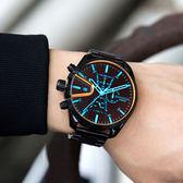 DIESEL 極致酷炫虹彩鏡面計時腕錶 DZ4489 熱賣中!