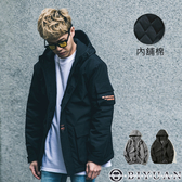 【OBIYUAN】連帽外套 鋪棉 加厚 保暖 衝鋒外套 共2色【Y0866】