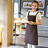 圍裙純棉廚房酒店美甲咖啡廳工作服