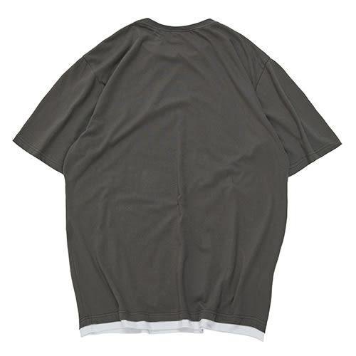 層次織標短TEE STAGE LAYER TEE 黑色/灰色 兩色