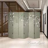 屏風 隔斷簡約現代新中式客廳餐廳辦公室摺疊布藝行動簡易摺屏裝飾 果果輕時尚 NMS