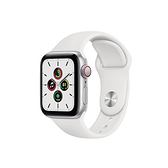 【免運費】Apple Watch SE LTE 40mm 銀鋁/白運動錶帶 MYEF2TA/A