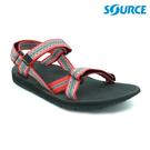 SOURCE 女 越野運動涼鞋Stream 101022OP【粉紅灰】/ 城市綠洲(織帶、輕量、快乾、抑菌)