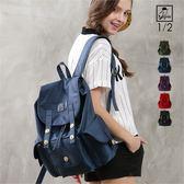 後背包1/2princess輕便耐重防潑水尼龍三口袋後背包-5色[A2723]