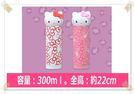 日本景品 KITTY 頭型 不鏽鋼 保冷水壺 保溫水壺300ml 粉色/白色分售1011743