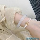 玉鐲 仙女鐲 天然高冰玉髓瑪瑙水晶荔枝凍手鐲女ins小眾設計送女生禮物 快速出貨
