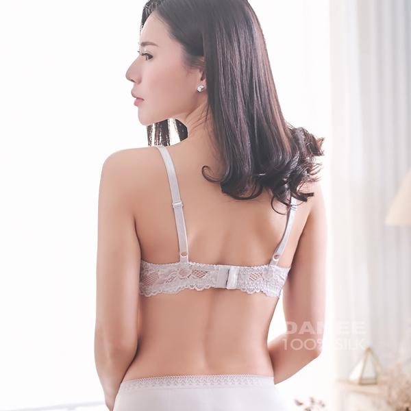 【岱妮蠶絲】FB15220經典款輕柔舒適型蠶絲內衣 (銀灰)