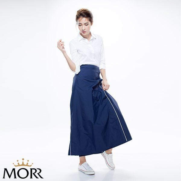 【MORR】Rainsk晴雨兩用一片裙【午夜藍】通勤/機車/兩件式/防曬裙