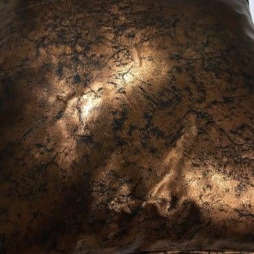 HOLA home 紅銅仿皮抱枕45x45cm