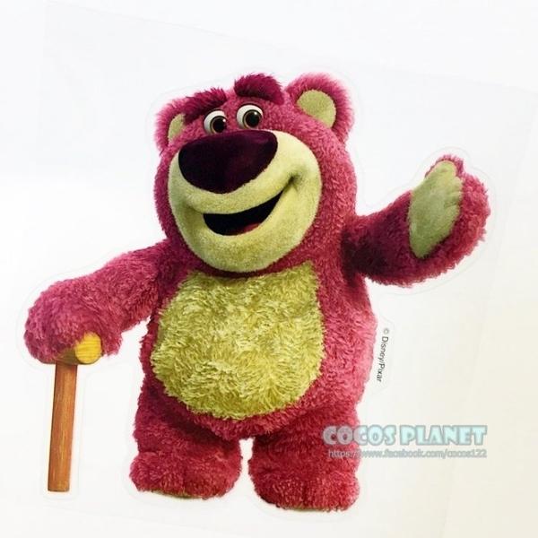 迪士尼貼紙 玩具總動員 熊抱哥 草莓熊 透明貼紙 壁貼 玻璃貼 防水貼紙 機車貼 COCOS TS030