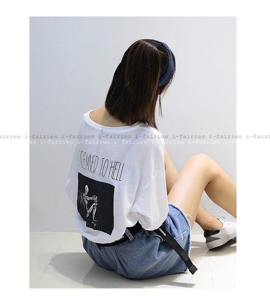 印花短袖T恤上衣★ifairies【48890】