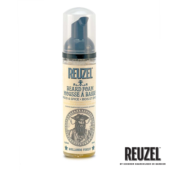 REUZEL Beard Foam 免沖保濕養護鬍鬚泡沬 70ml (原廠公司貨)【Emily 艾美麗】