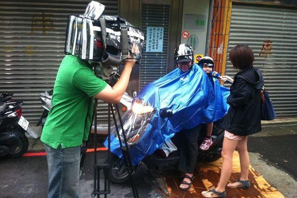 連身全罩斗帳篷式自行單車雨衣