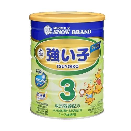 雪印金強い子3 PLUS成長營養配方900公克X12罐 8100元