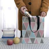 午餐袋手提袋帆布袋便攜購物袋書袋學生補習袋飯盒袋折疊防水環保便當包店長推薦好康八折