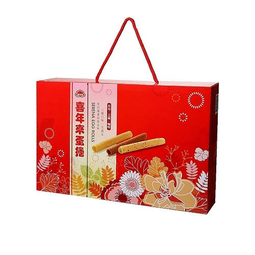 【年節】喜年來 綜合蛋捲 新富貴禮盒(原味、芝麻、咖啡) 384g【售完為止】