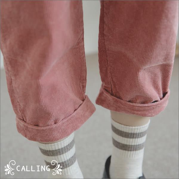 吊帶褲 - 甜美味可調細肩帶絨布吊帶褲 三色 Calling1230