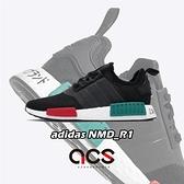adidas 休閒鞋 NMD_R1 黑 綠 男鞋 女鞋 運動鞋 【ACS】 EF4260