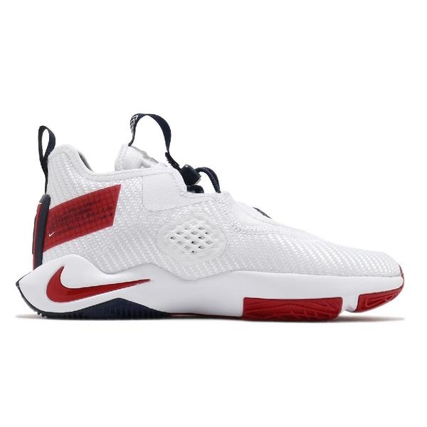 Nike 籃球鞋 Lebron Soldier XIV GS 白 紅 女鞋 大童鞋 運動鞋 士兵 14代 【ACS】 CN8689-100