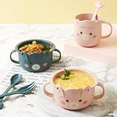 小麥秸稈兒童碗套裝水杯家用卡通兒童餐具可愛塑料耐摔寶寶吃飯碗 童趣屋