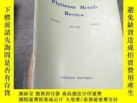 二手書博民逛書店Platnum罕見Metals Review Volume 33 1989 number 3Y403679