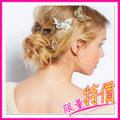 髮夾 韓版 飾品 歐美 時尚 復古 鏤空 金色 蝴蝶 髮飾 邊夾 頭飾 女 氣質 新娘 優雅 清新