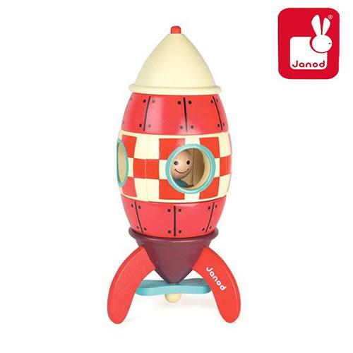 法國Janod 磁性拼裝積木-火箭(大)