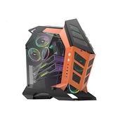 darkFlash K1異形機箱/電腦機殼-黑橘色(不含風扇) 【DF01-0010】
